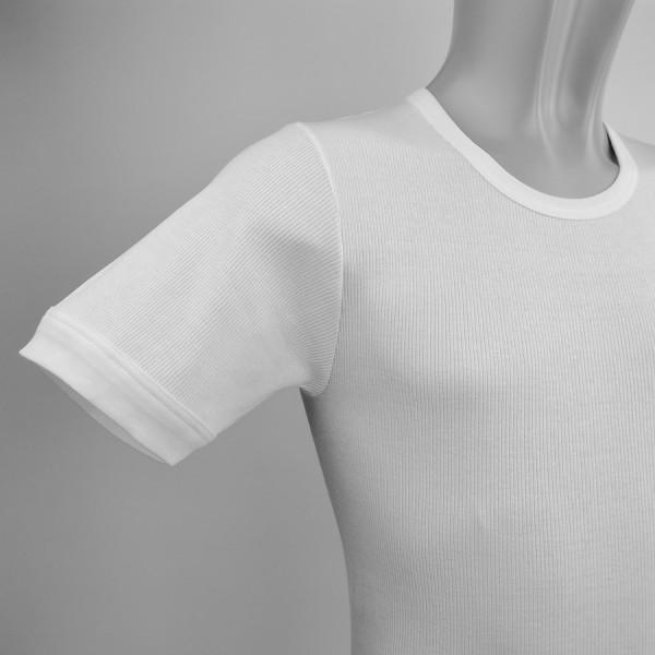 Pulli 1/4 Arm, Doppelripp, weiß